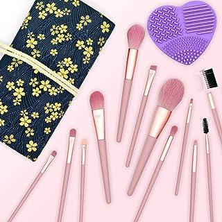 Makeup Brush Set 12 Pcs Premium Synthetic Makeup Brushes Foundation Blending Brush Face Brush Concealer brush Eyeshadow Brush with Storage Bag and Brush Cleaner