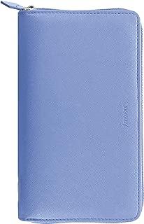 Filofax 2020 Personal/Compact Zip Saffiano Organizer, Vista Blue, 6.75 x 3.75 inches (C022592-20)