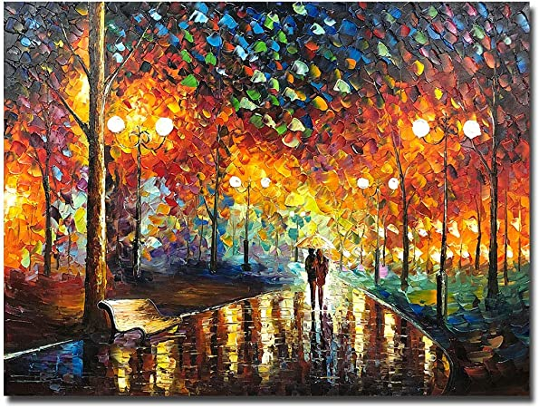 Amazon.com: V-inspire Art,30x40 inch Abstract Art Landscape Oil Painting On  Canvas Contemporary Art Wall Paintings Handmade Painting Home Decorations  Canvas Wall Art Painting Ready to Hang: Paintings