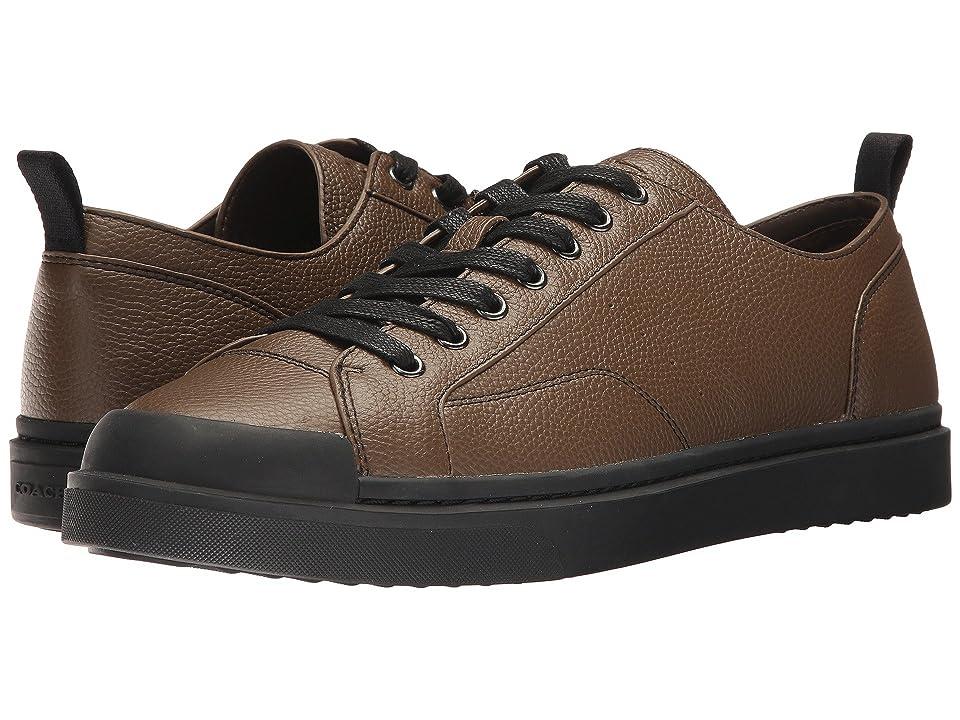 COACH C114 Lo Top Sneaker Pebbled (Fatigue/Black) Men