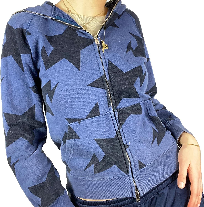 Womens Zip Up Oversized Hooded Y2K Casual Long Sleeve Portrait Print Hoodies Sweatshirts with Pockets Coat
