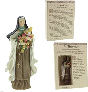 Roman Saint Therese with Flowers Patrons and Protectors Religious Figurine 50273