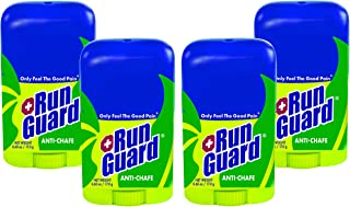 RunGuard Natural Travel Size (0.6 oz) 4 Pack: Made with 100% Plant-Based Ingredients Plus Beeswax. Works for All Distances, from 5K Walks/Runs to 100 Mile Ultra Marathons.