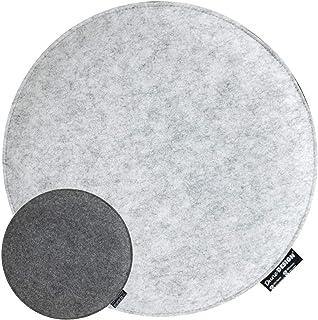 DuneDesign 25 mm Cojín de Fieltro para Sillas Redondo Ø 35cm 2-Colores Gris