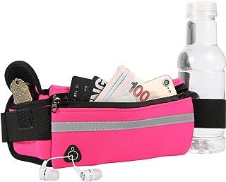 超薄优质氯丁橡胶潜水材料,健身运动跑步,徒步腰腰腰腰包,反光条纹,水瓶架,钥匙袋,轻便,可调节弹性腰带