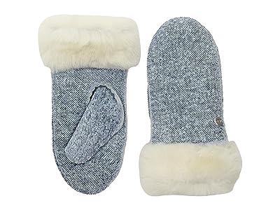 UGG Kids Water Resistant Sheepskin Mitten (Toddler/Little Kids) (Denim) Extreme Cold Weather Gloves