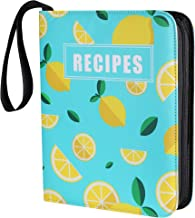 D DACCKIT 160 Pockets Recipe Binder with Page Protectors, Perfect for 4x6 inch Recipe Card, Recipe Book Collectors Album w...