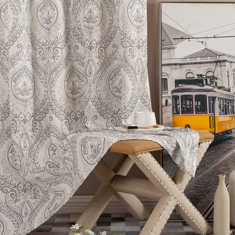 JINCHAN Damask Printed Curtains Shipping included for Nashville-Davidson Mall Drapes Bedroom Vintage Linen