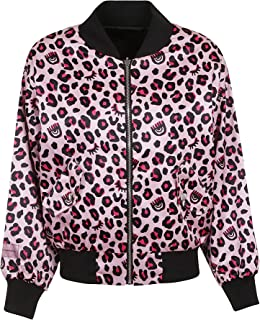 CHIARA FERRAGNI Luxury Fashion Womens CFJ025LEOPARD Pink Outerwear Jacket |