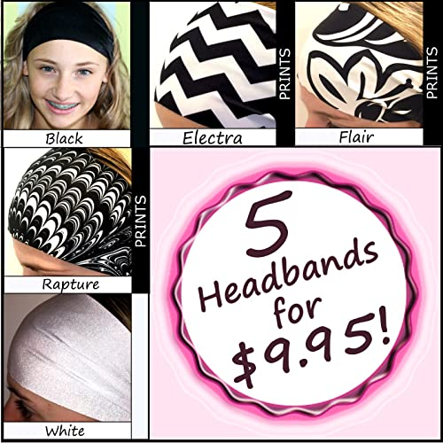 Swipe Sweatband Headband Wide Sports Workouts Fashion Gorgeous Adults Youth