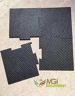 Nueva tecnología volcanizada: losa de caucho antivibración y antirruidos para lavadora–60x 60x 1cm