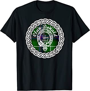 Macdonald, Mcdonald or Donald Clan Scottish tartan tshirt