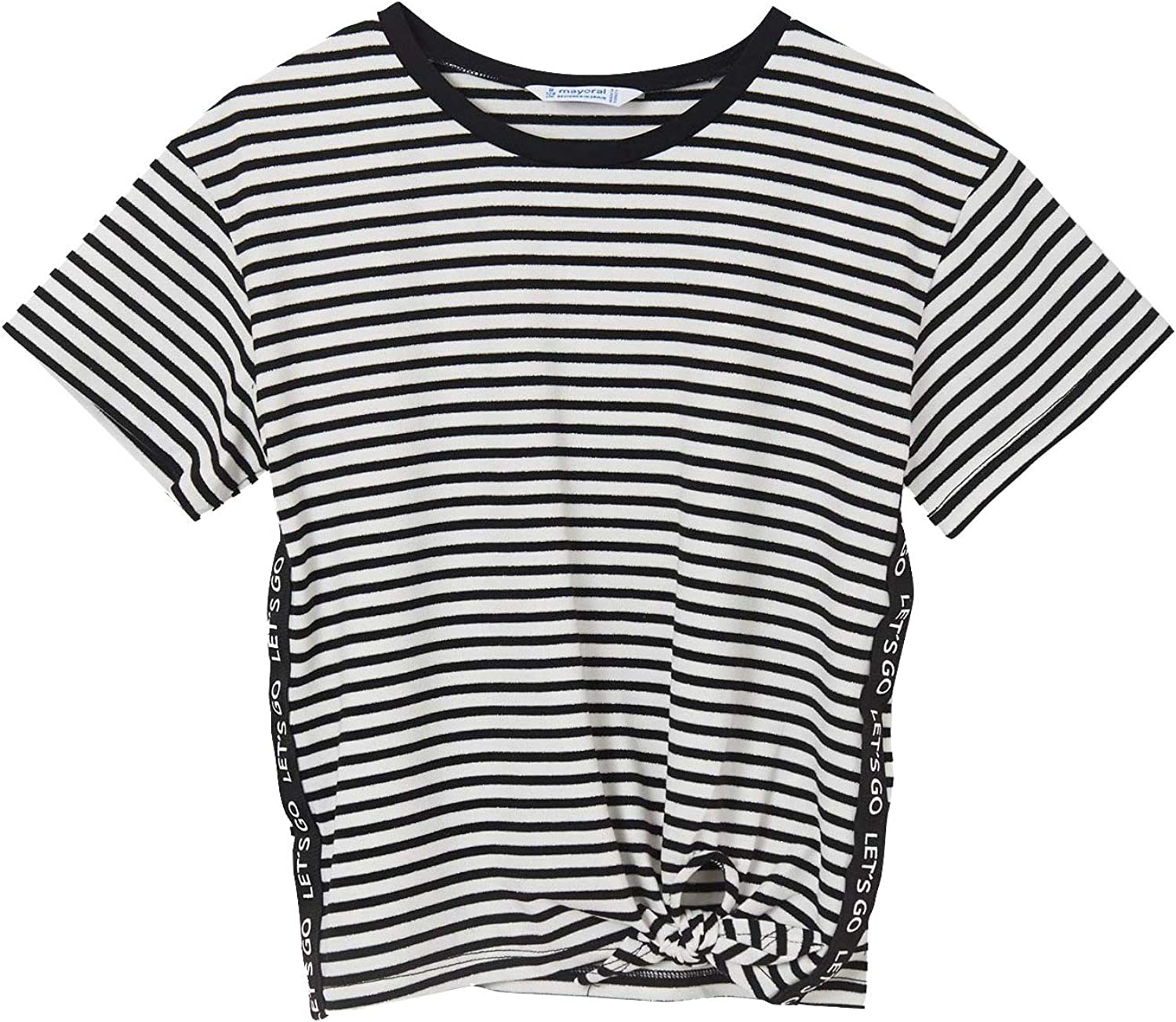 Mayoral - S/s t-Shirt for Girls - 6017, Black