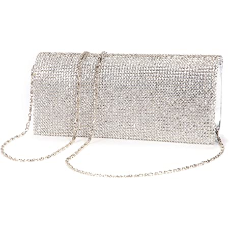 LeahWard Women/'s Sparkly Crystal Diamante Clutch Bags Great Evening Bag Party 33