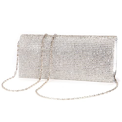 9f2e14dab1236 Shimmering Diamante Crystal Cover Evening Bag Clutch Purse Party Wedding  Prom