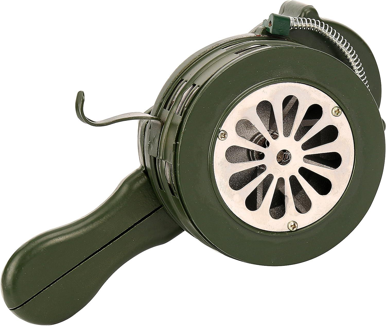 YaeTek Hand Crank Loud 115dB Hand Crank Manual Operated Portable Metal Alarm/Siren (Air Raid)