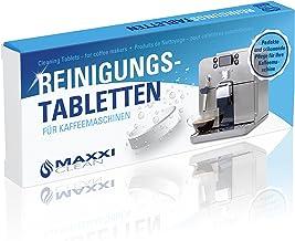 Maxxi Clean 10 reinigingstabletten voor koffiemachines en koffiemachines, reinigingstabs als koffievetoplosser voor het re...