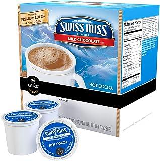 Keurig Swiss Miss 牛奶巧克力热可可可 72 克拉 K-Cup Pods 44 Count 蓝色