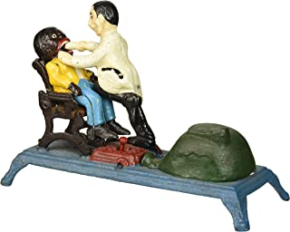 Design Toscano SP463 The Dentist Chair: Pulling Teeth Collectors' Die-Cast Iron Mechanical Coin Bank,Full Color