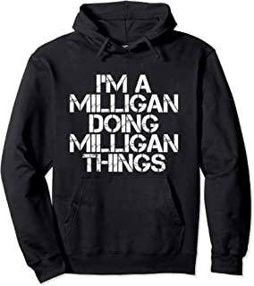 MILLIGAN Funny Surname Family Tree Birthday Reunion Gift Pullover Hoodie