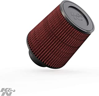 K&N Universal Clamp-On Engine Air Filter: Washable and Reusable: Round Tapered; 3 in (76 mm) Flange ID; 6 in (152 mm) Height; 6 in (152 mm) Base; 4.625 in (117 mm) Top ,  RE-0930
