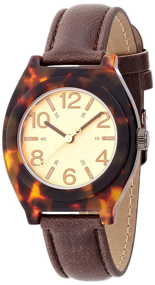 バイオレット因子視聴者[フィールドワーク] 腕時計 タートル アナログ表示 DT092-3 ブラウン