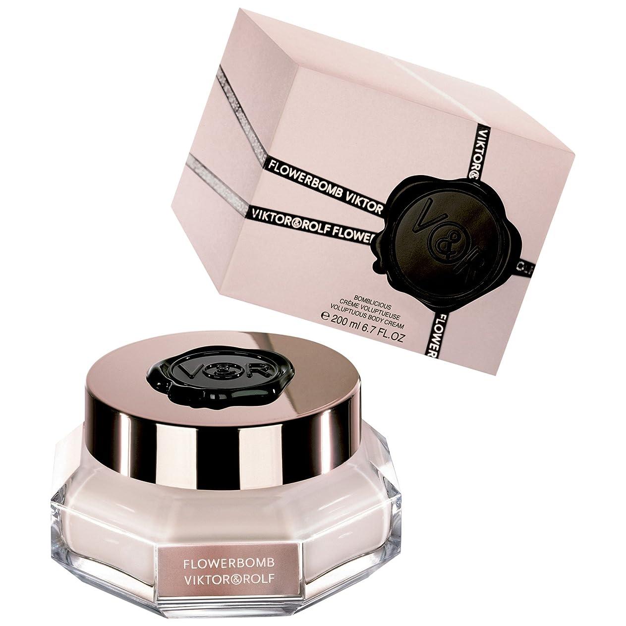 甘美な鎮痛剤提出するヴィクター&ロルフFlowerbombボディクリーム200ミリリットル (Viktor & Rolf) (x6) - Viktor & Rolf Flowerbomb Body Cream 200ml (Pack of 6) [並行輸入品]