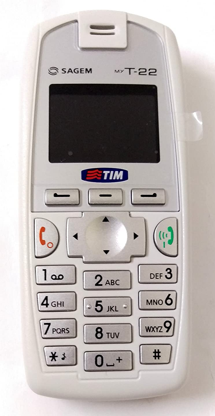Sagem MyT22 White ,GSM Unlocked Dual Band,Bright LCD Display Phone For Europe and Asia.