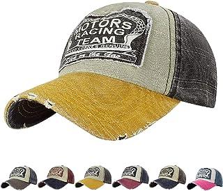 UMIPUBO Unisex Baseball Cap Motors Cotton Edge Grinding Do Old Sports Hats (Four Colors)