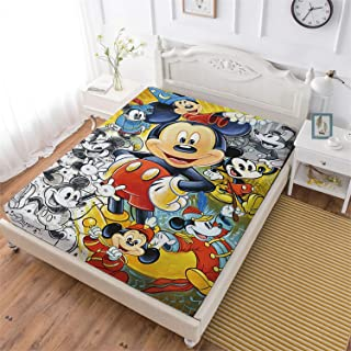 MEW Anime 3D Childrens Cartoon Customied Fitted Sheet,Naruto Kisses Hinata Soft Decorative Fabric Bedding Stain Resistant Deep Pocket Bed Sheet,Twin Size Sheet Kids Bedding Decor
