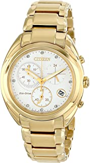 Citizen Eco-Drive Women's FB1392-58A Celestial Analog Display Gold Watch
