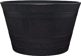 Southern Patio HDR-007197 Whiskey Barrel, Kentucky Walnut, 15.5