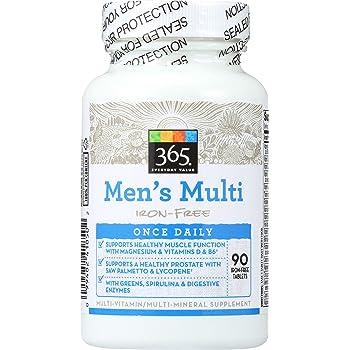 365 Everyday Value, Men's Multi Iron-Free, 90 ct