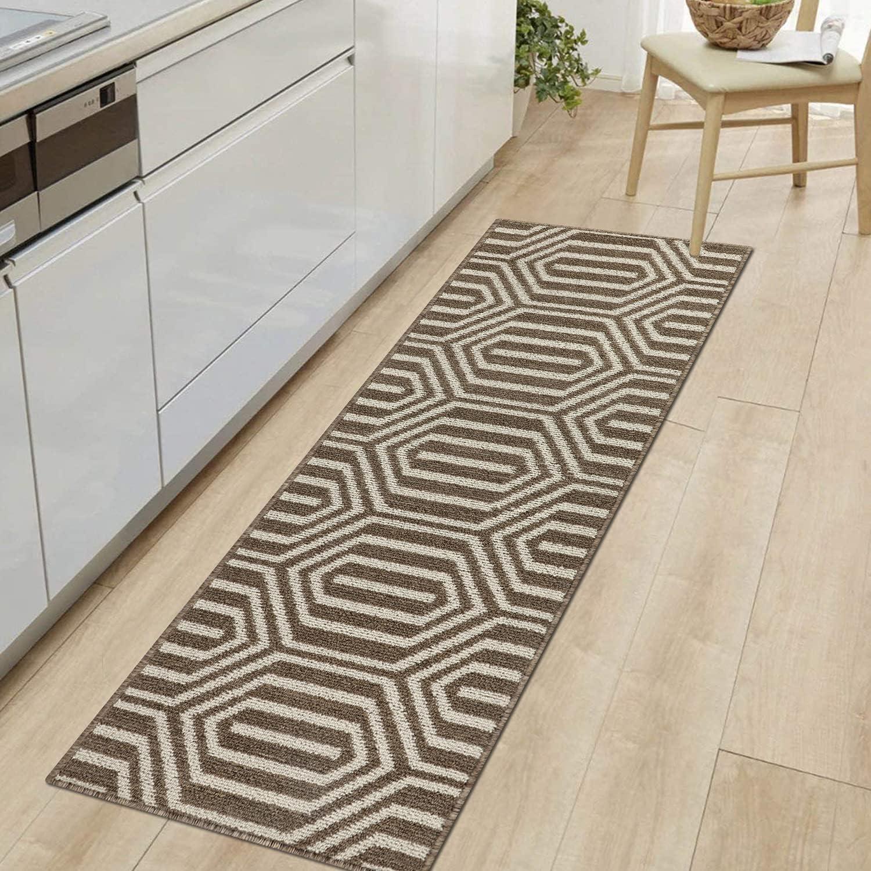Cekene Alfombra antideslizante tejida para pasillo lavable a máquina, alfombra de piso para cocina, lavandería, dormitorio, 50,8 x 149,8 cm