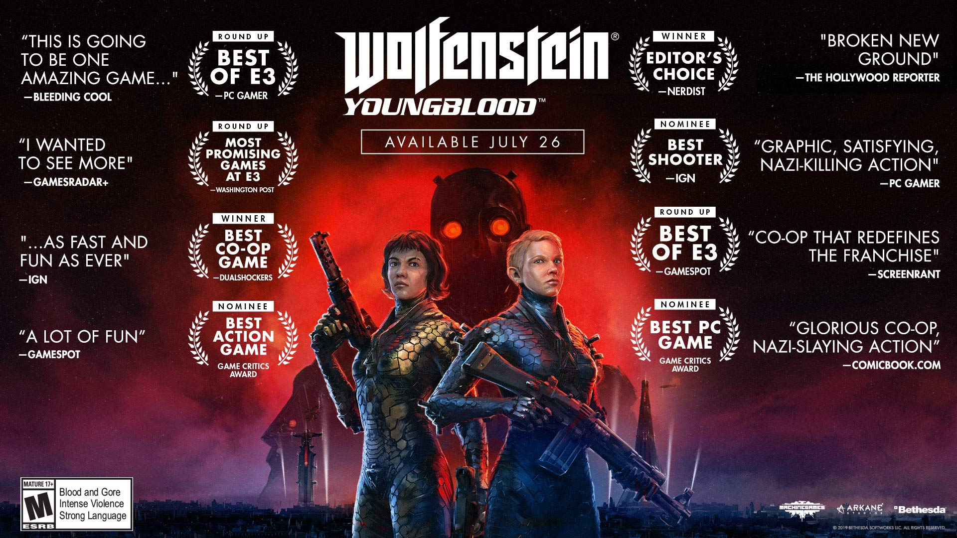 Wolfenstein. Youngblood for Xbox One Deluxe Edition [Usa]: Amazon ...