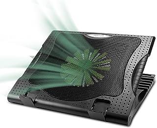 『2021最新進化型』 WESDAR・強冷超静音冷却ファンノートパソコン冷却パッド 冷却台 5段階高度調整可 風量調節可 ノートPCクーラー 大風量・低騒音 2つUSBポート付 メタルメッシュデザイン 滑り止め付き 9-17インチまでのノートP...