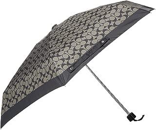 Coach Signature Mini Umbrella Silver/Black Grey/Black F63365