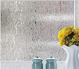 Rain Glass Window Film Static Cling Opaque Glass Sticker Home Decor (Clear Two)
