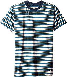 Die Cut Stripe Short Sleeve Crew Tee (Big Kids)