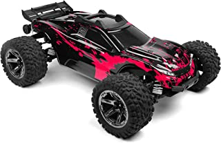SummitLink Custom Body Muddy Hot Pink Over Black Style Compatible for Rustler 4X4 1/10 Scale RC Car or Truck (Truck not In...