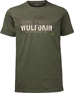 JACK WOLFSKIN Erkek Tişörtler SLOGAN T MEN, Yeşil, L (Üretici ölçüsü: L)