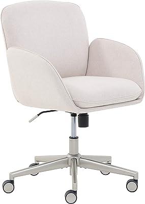 Amazon Com Serta Style Leighton Home Office Chair Sanctuary Blue Twill Fabric Furniture Decor