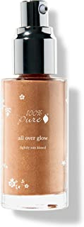 100% PURE All Over Glow Bronzer, Lightly Sunkissed, Liquid Bronzer for Glowing Skin, Contour Makeup, Illuminating Makeup f...