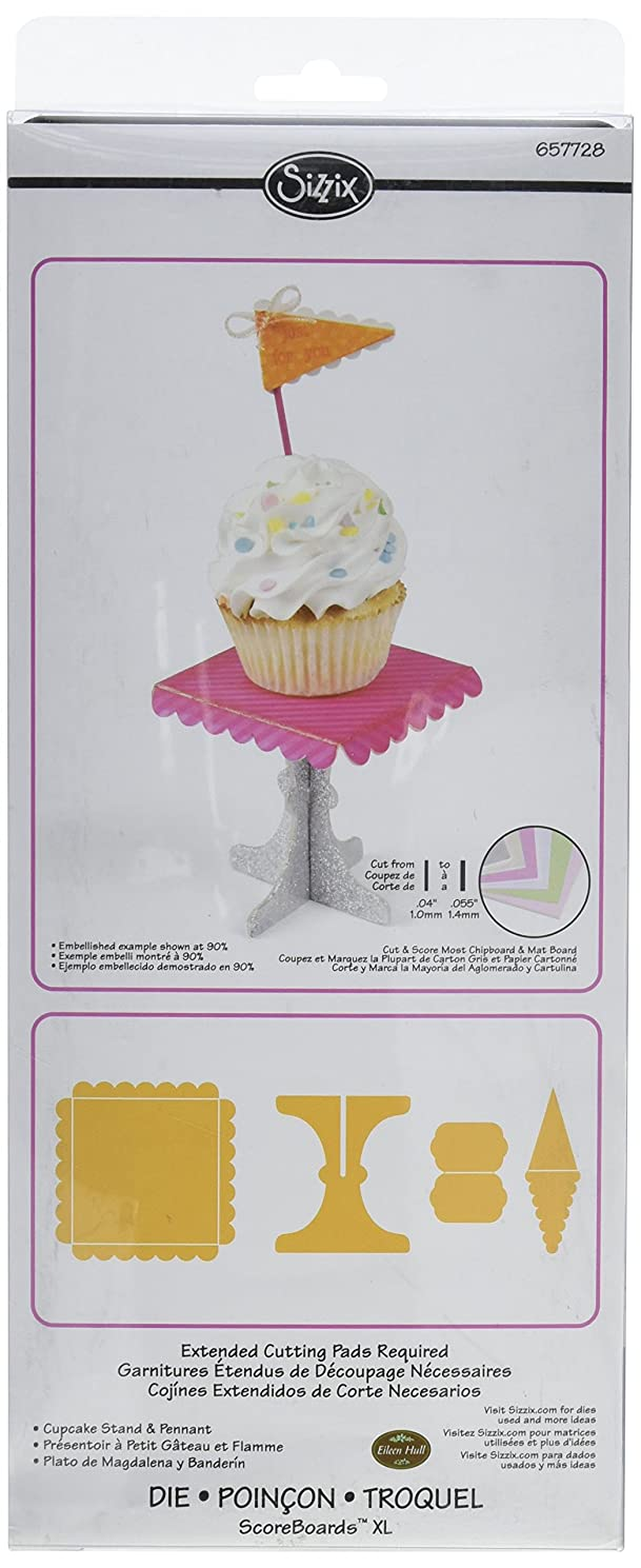 Sizzix ScoreBoards XL Die - Cupcake Stand & Pennant by Eileen Hull