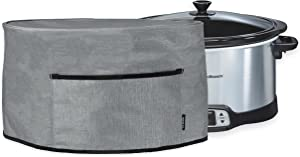 Crutello Crock Pot Cover for 6, 7 or 8 Quart Slow Cooker - Small Appliance Dust Covers