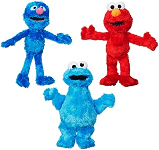 Sesame Street Plush Bundle featuring Elmo, Cookie Monster and Grover, .