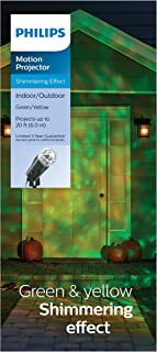 Halloween Motion Projector with LED Bulbs - Green & Yellow
