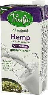 Pacific Natural Unsweetened Hemp Milk, Original, 6 Count