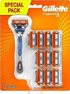 Gillette Fusion5 Regolabarba Uomo, Rasoio a Mano Libera, 11 Lamette da Barba da 5 Lame, Rasatura Confortevole, con Rifinit...