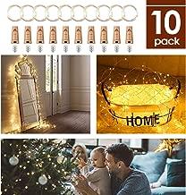 10Pcs Luces de Botella, AGM 2m * 20 LED Cadena de Luces Con Pilas, Luces de Corcho para Botellas de Vino Impermeable, Guirnalda luces Decoración Boda, Fiesta, Navidad (Blanco cálido)